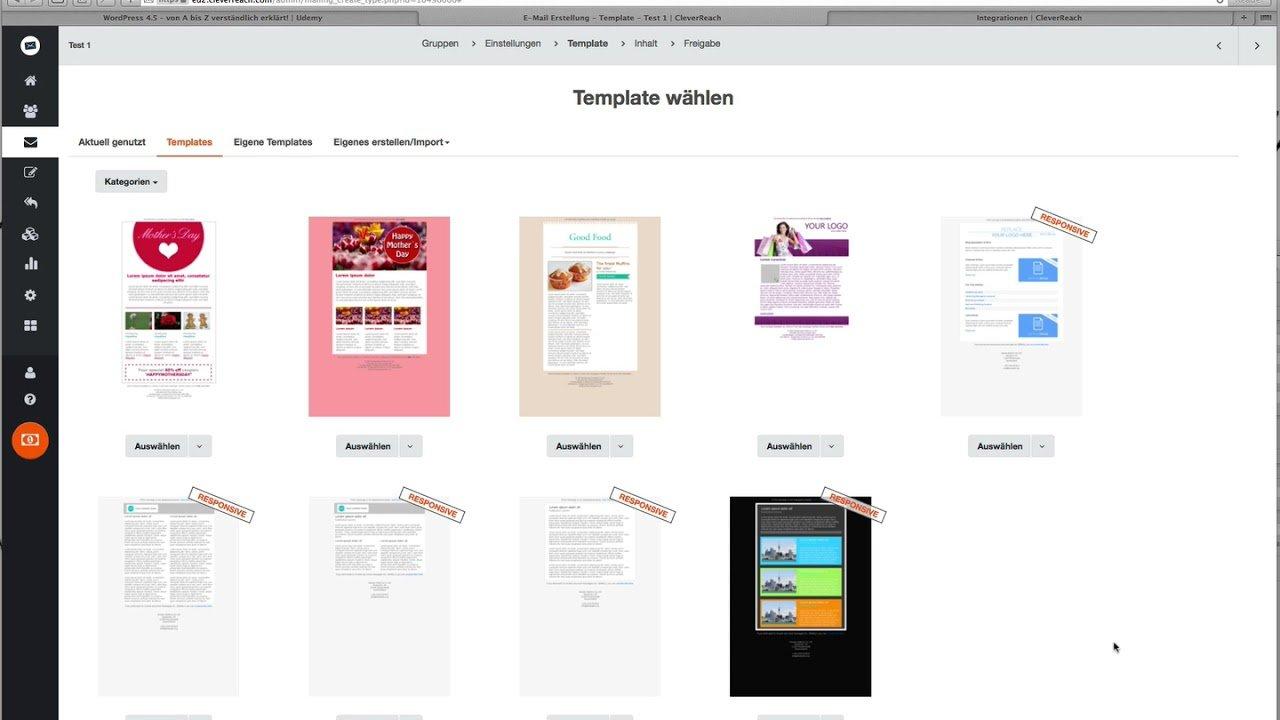 03 CleverReach Emails erstellen / Tutorial für Anfänger 2017