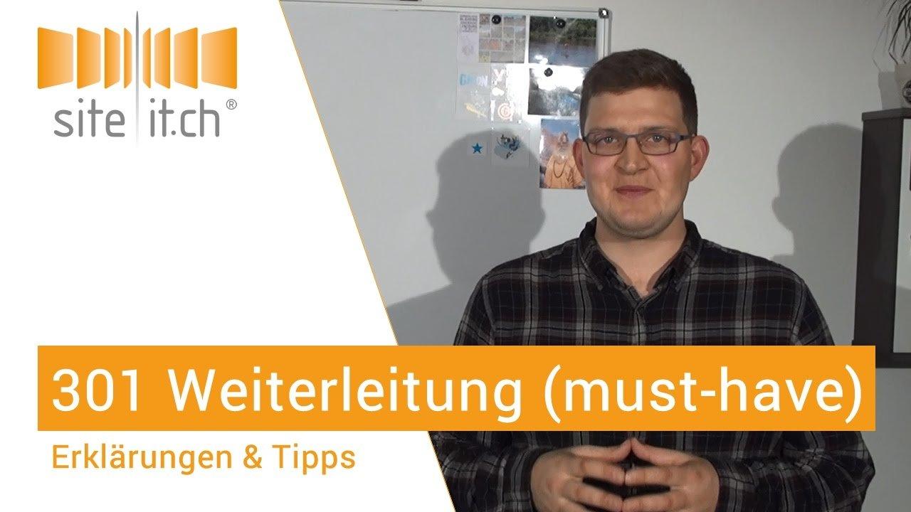 301 Weiterleitung - must have im Pflichtenheft (CH-Deutsch)