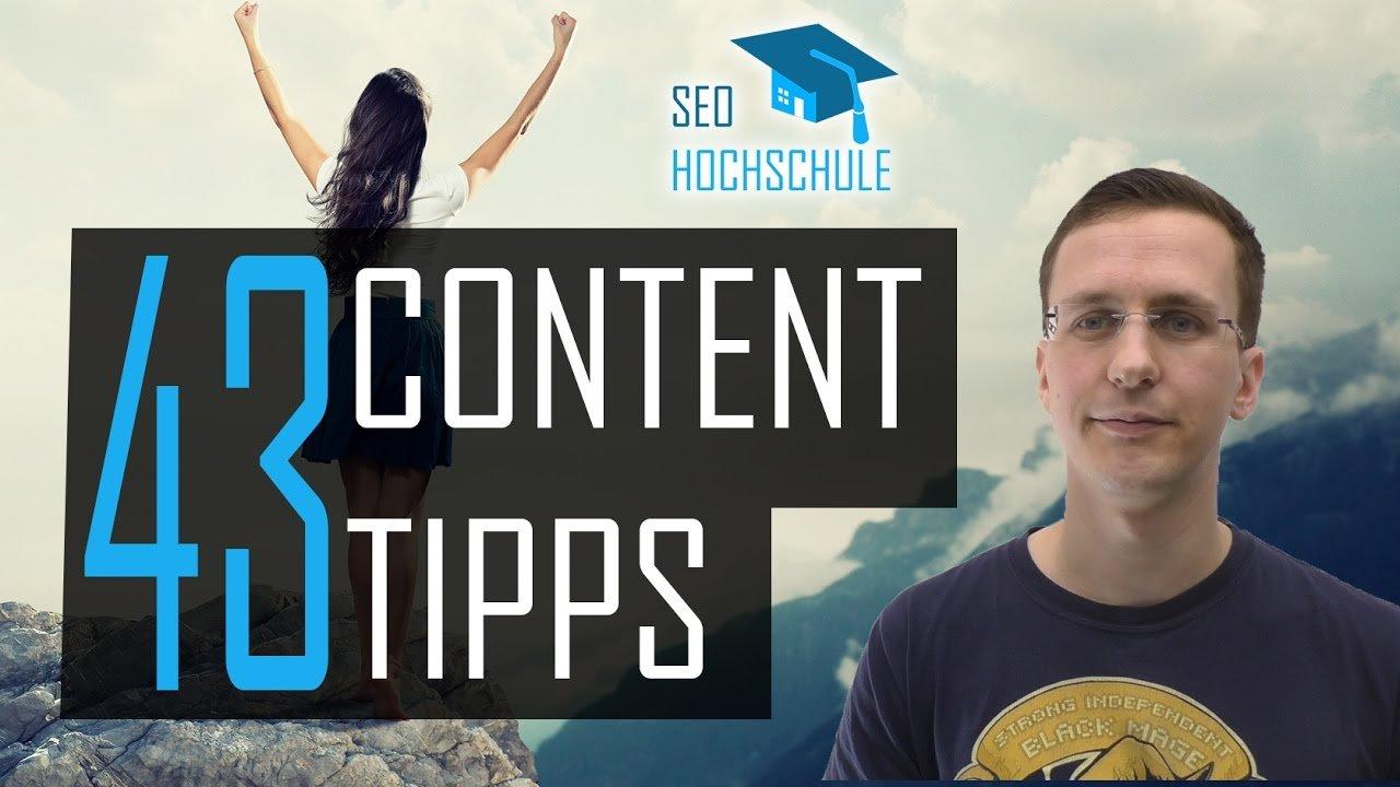 43 einfache SEO Content Tipps, die du 2017 beachten solltest - SEO Dienstag 26