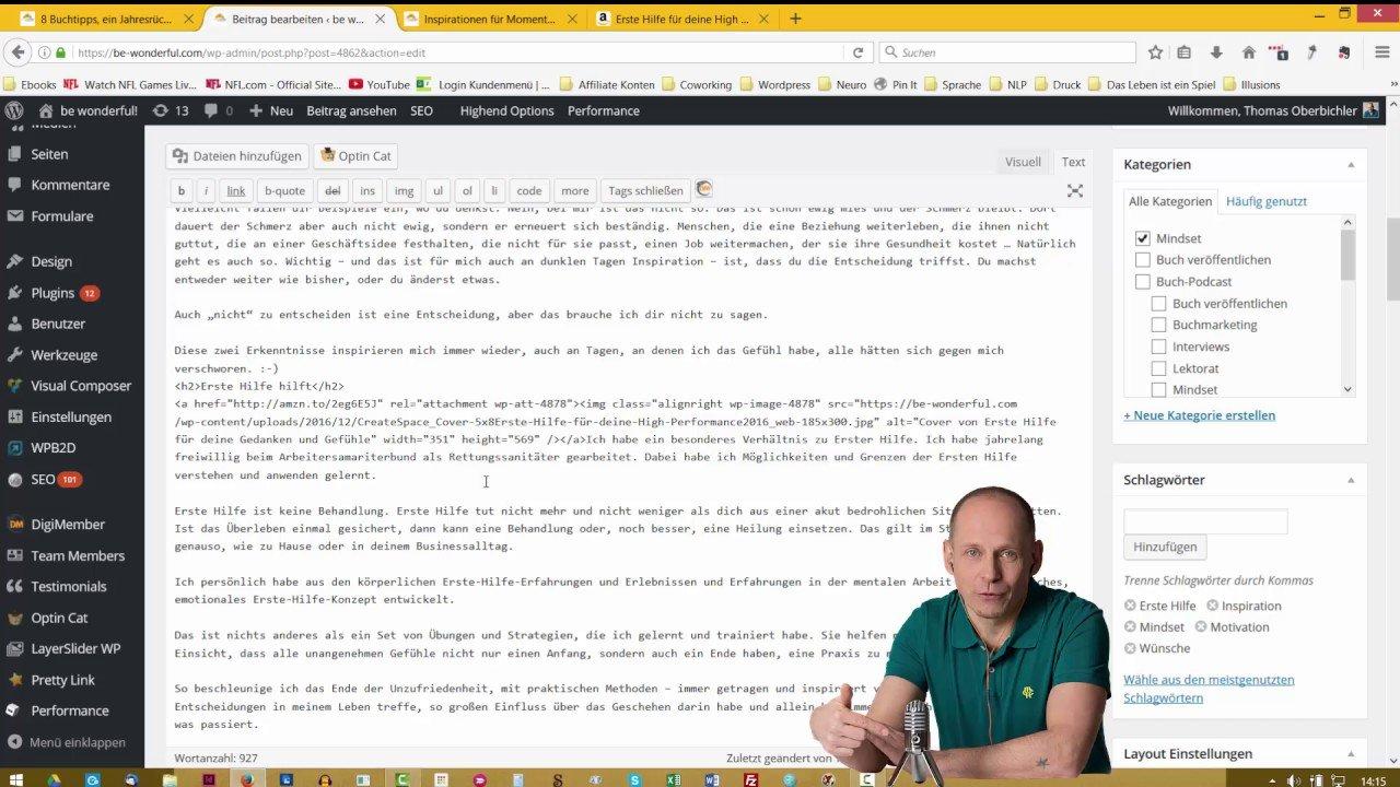 Amazon Buchvorschau direkt in Wordpress Seite einbinden