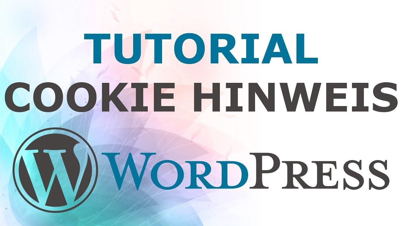 Cookie Hinweis in Wordpress einfügen | Tutorial - Deutsch / German