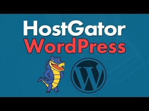 HostGator WordPress Install 2017