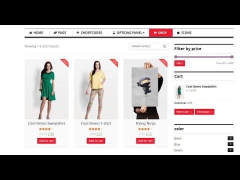 How To Create eCommerce Website Using Free WordPress Theme 2017