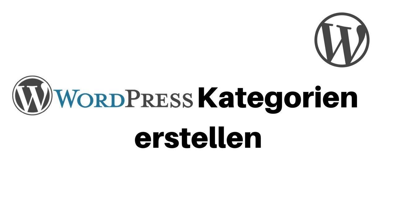 Kategorien erstellen mit Wordpress