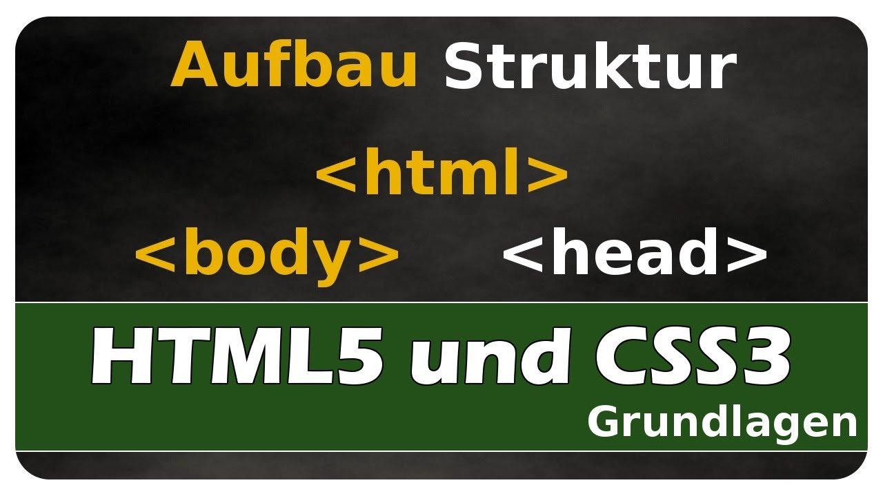 Let's Learn HTML5 und CSS3 #01 - Aufbau und Struktur einer HTML-Datei - Notepad++