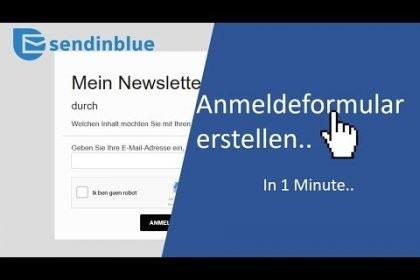 SendinBlue ANMELDEFORMULAR erstellen - für Anfänger