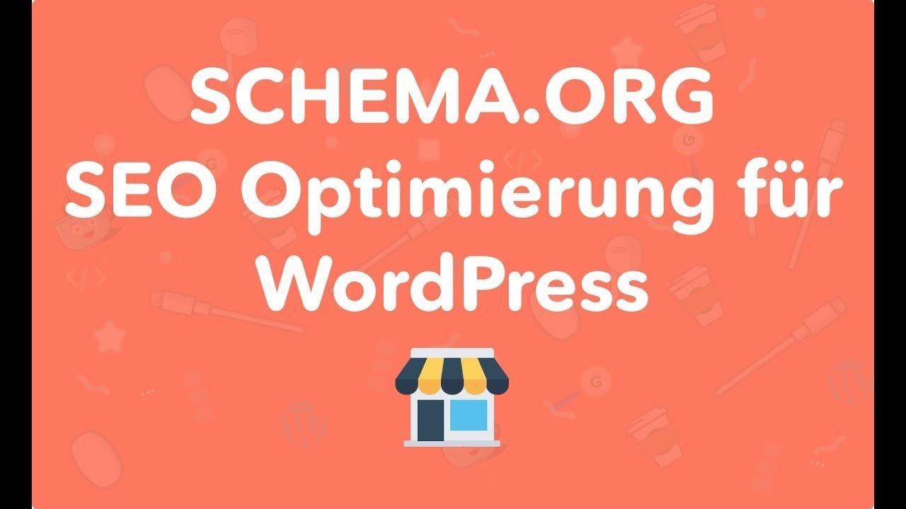 SEO Schema.org Optimierung mit WordPress Plugin