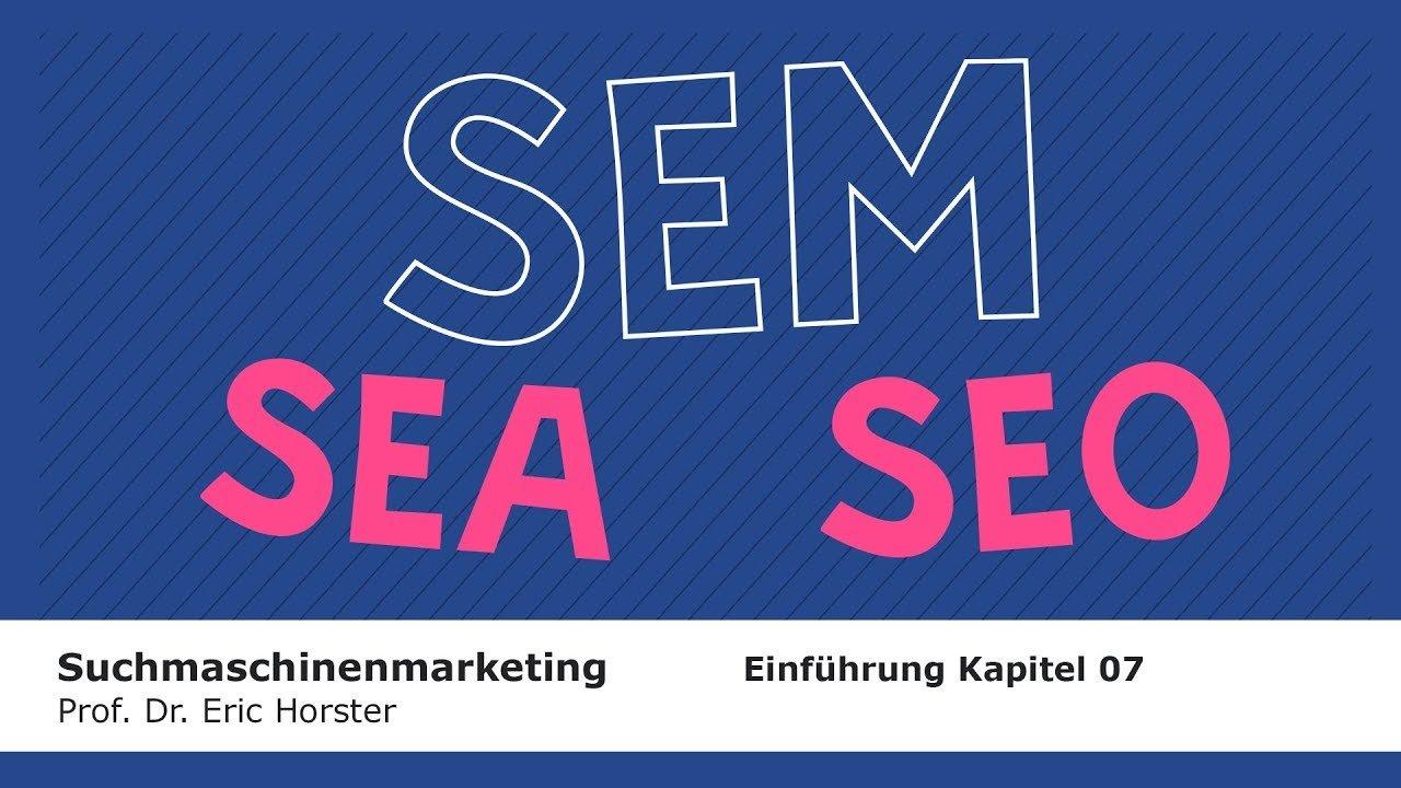 Suchmaschinenmarketing - #semmooc - Einführung Kapitel 7