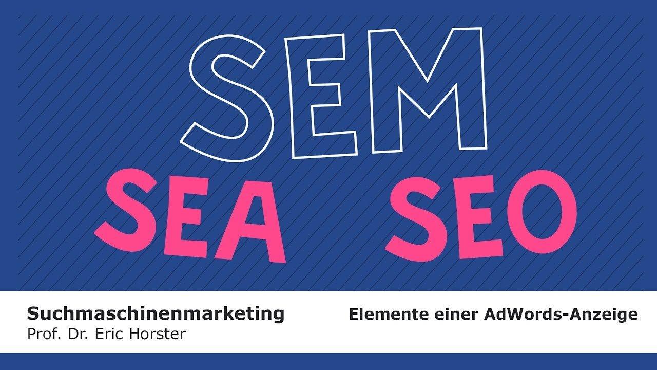 Suchmaschinenmarketing - #semmooc - Elemente einer AdWords-Anzeige
