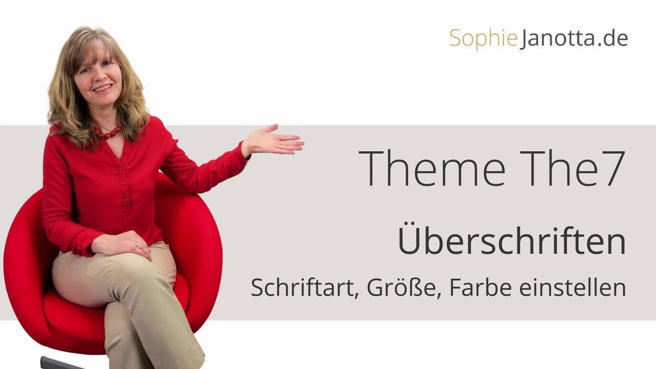 Theme The 7 Tutorial Deutsch Überschriften Größe und Farbe