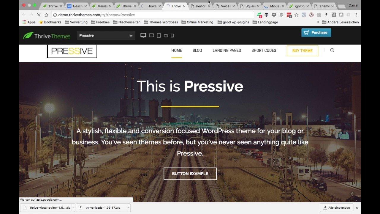 Thrive Themes Installation -Thrive Themes Tutorial Deutsch