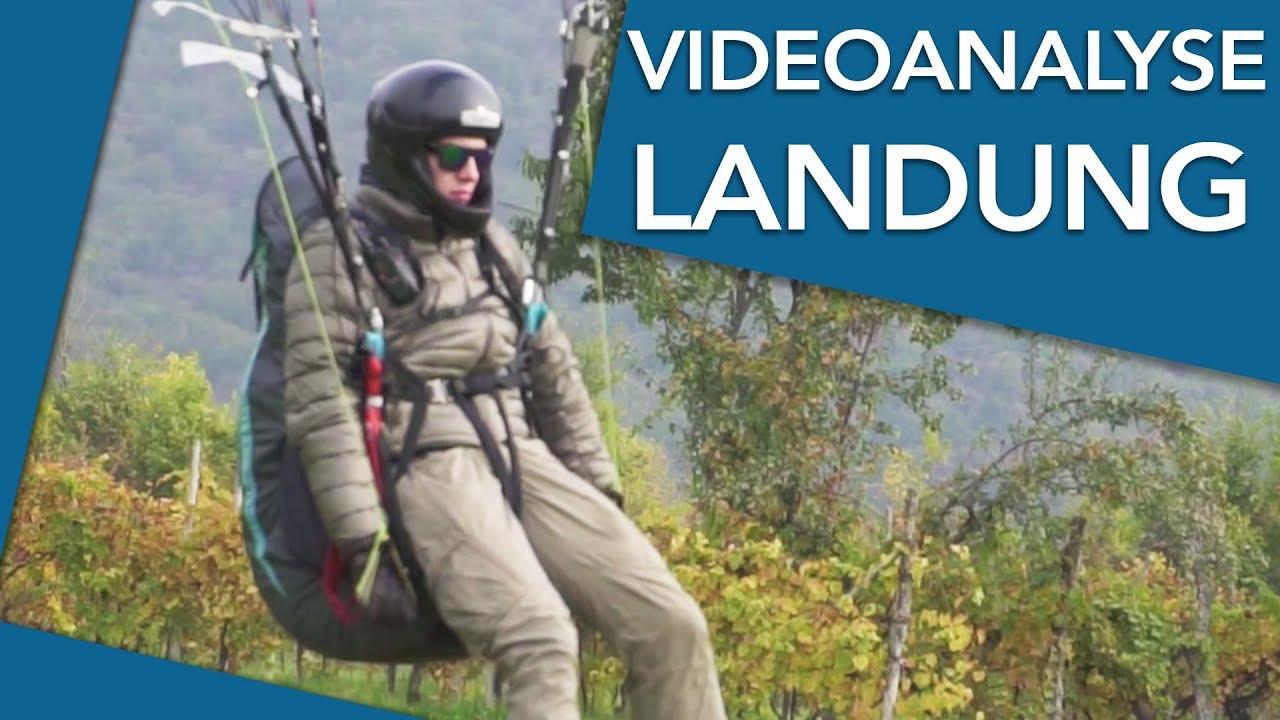 Videoanalyse Landetraining (Kommentar) - Paragliding lernen | Flugschule Hirondelle, Weinheim
