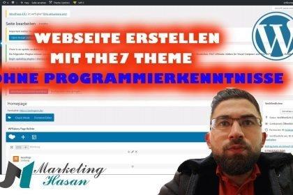 Webseite erstellen ohne Programierkenntnisse mit WordPress und The7 Theme   + Beispielprojekt