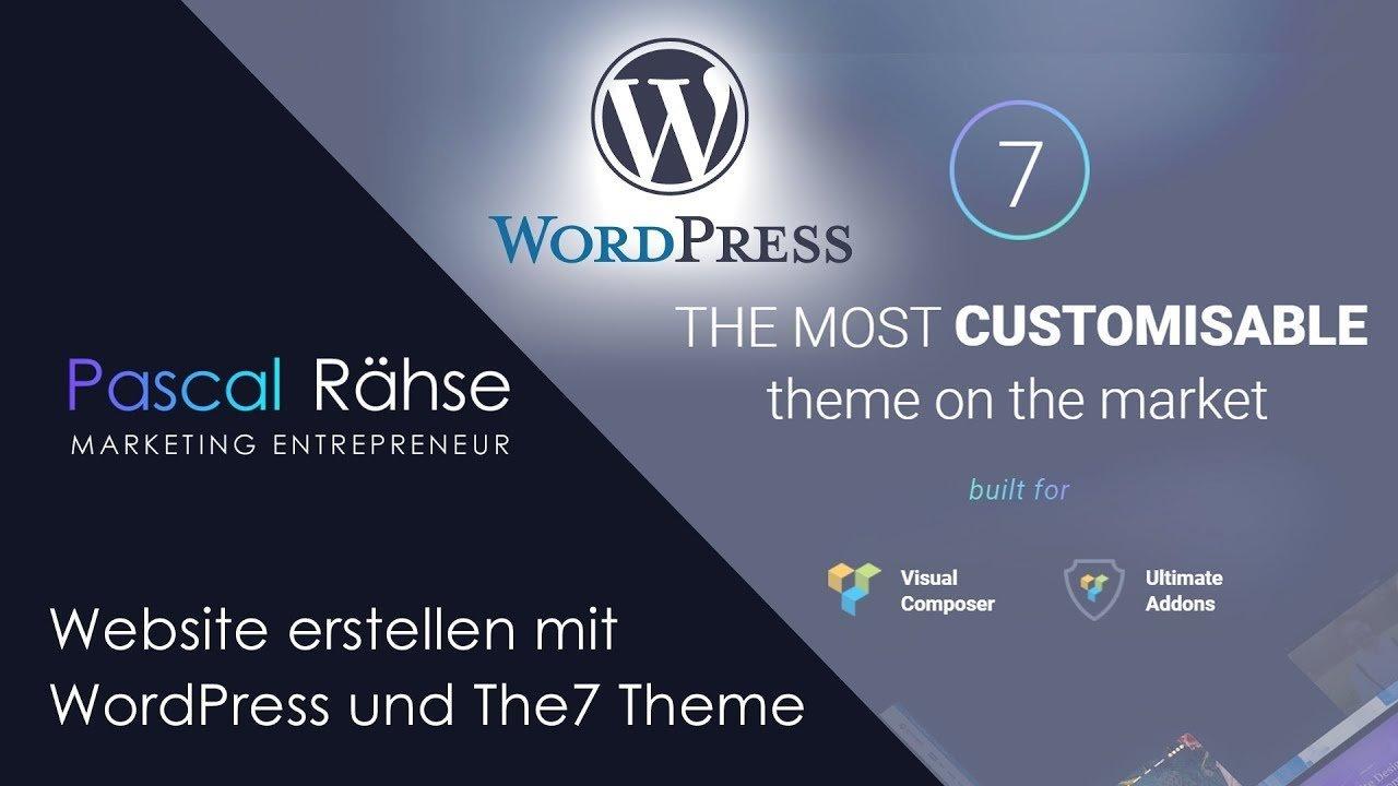 Website erstellen mit WordPress und The7 Theme | Pascal Rähse