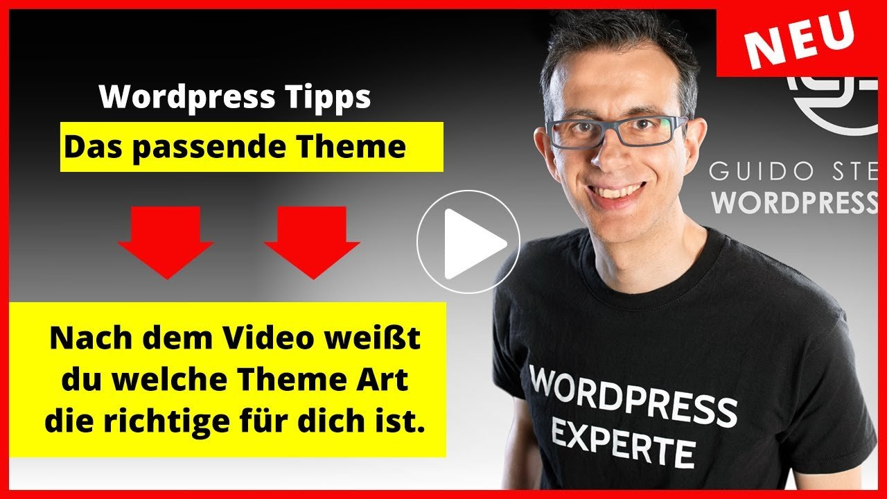 Wordpress Theme wo drauf man achten muss Guido Steinberg | WordPress Experte