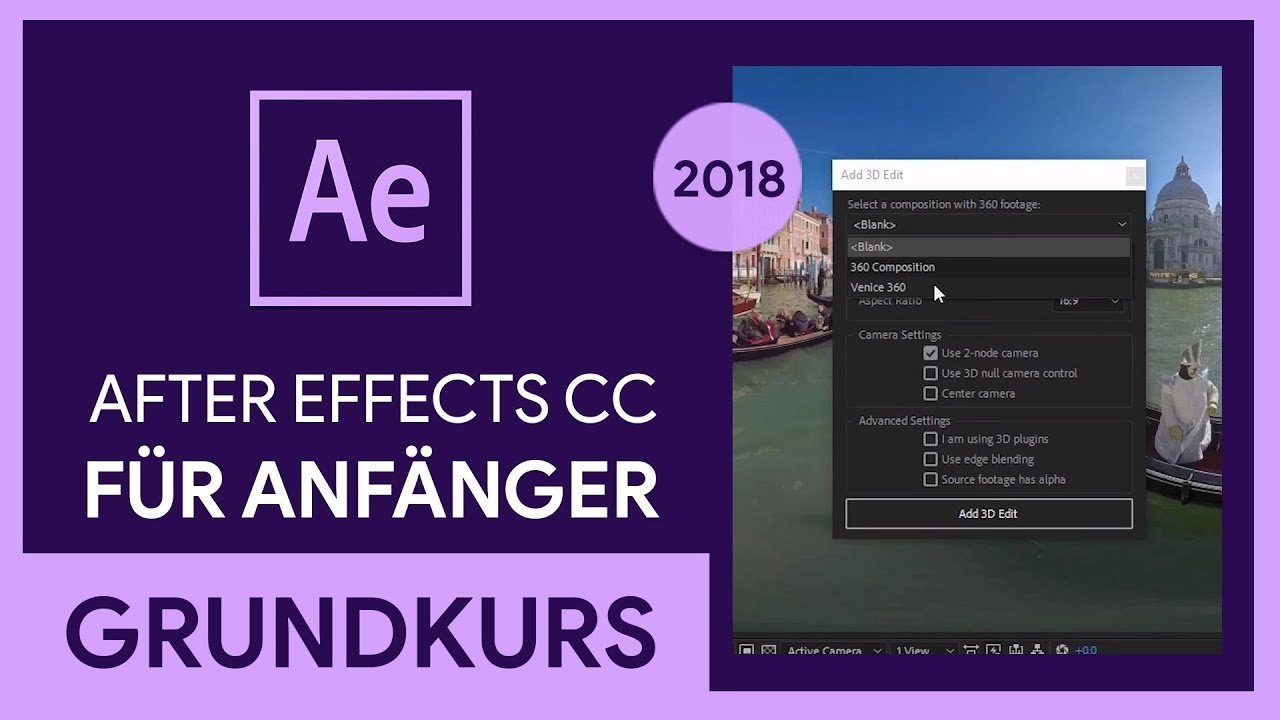 Adobe After Effects CC 2018 Grundkurs für Anfänger (Tutorial)