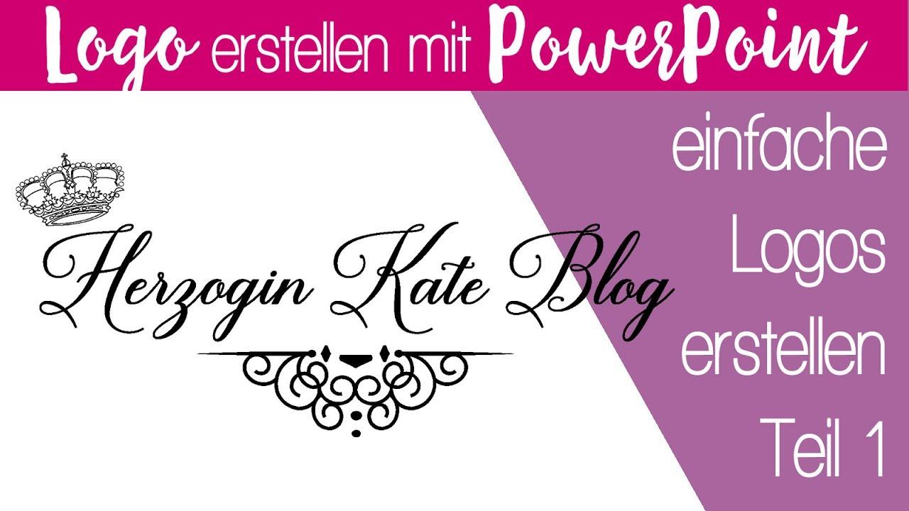 Bloglogo kostenlos selber erstellen mit PowerPoint Teil 1
