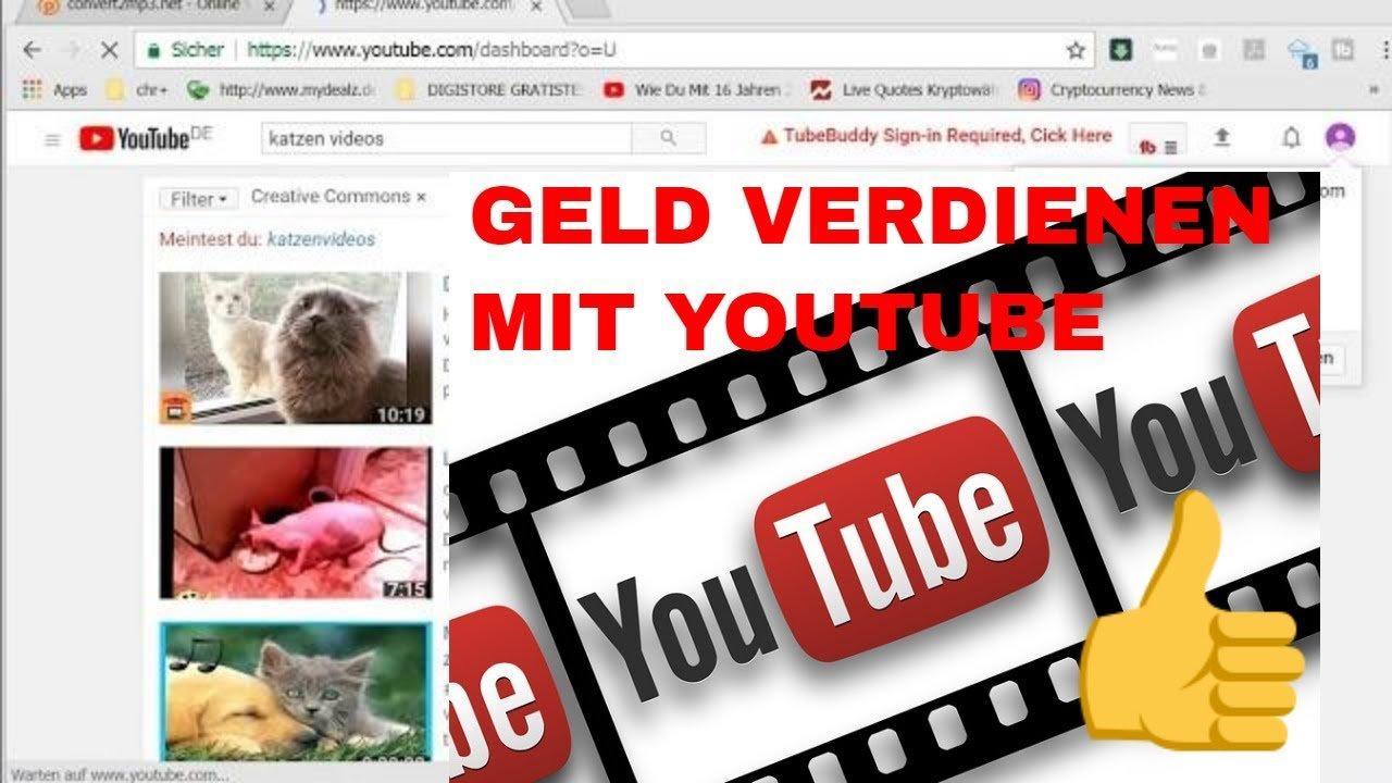Geld verdienen mit Youtube ohne eigene Videos   Seo Suchen Optimierung   creative common trick