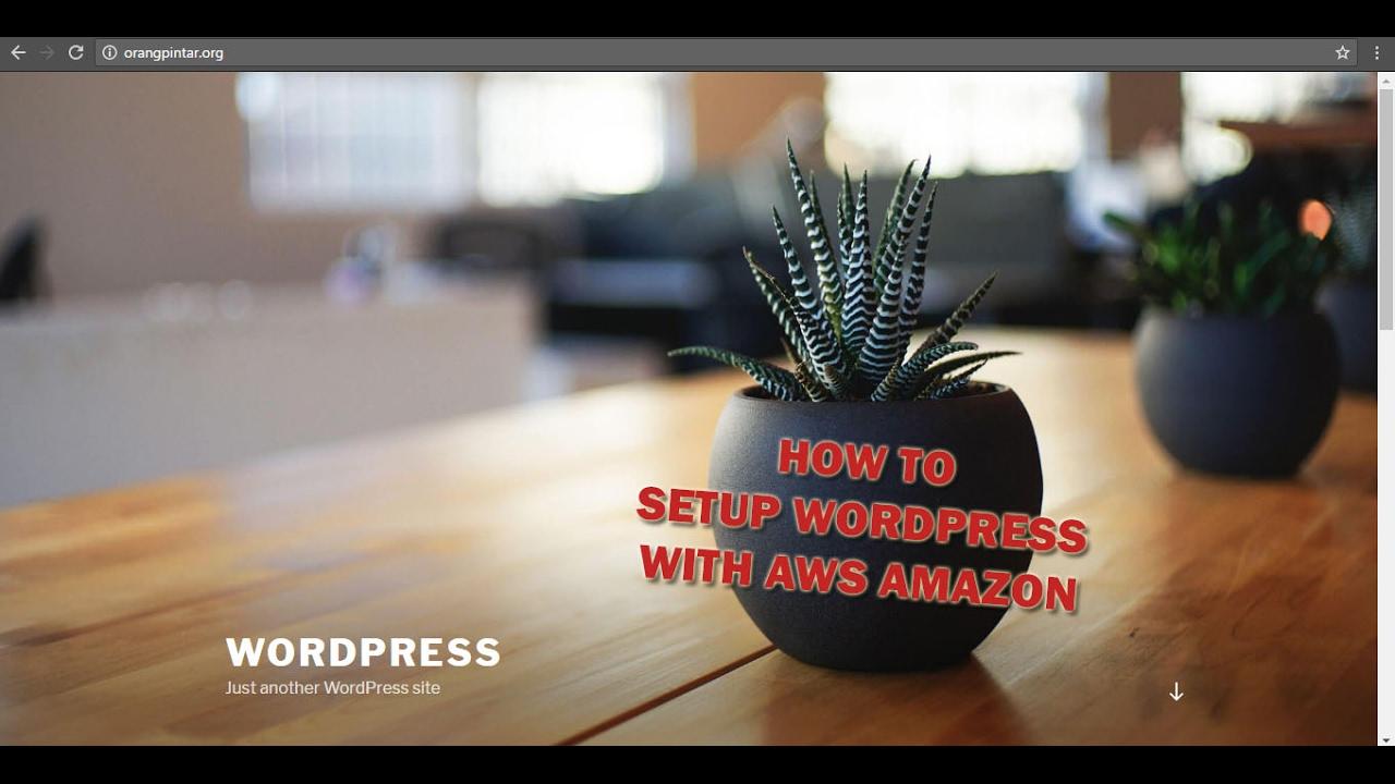 Install Wordpress on Amazon EC2 - With ur Own Domain