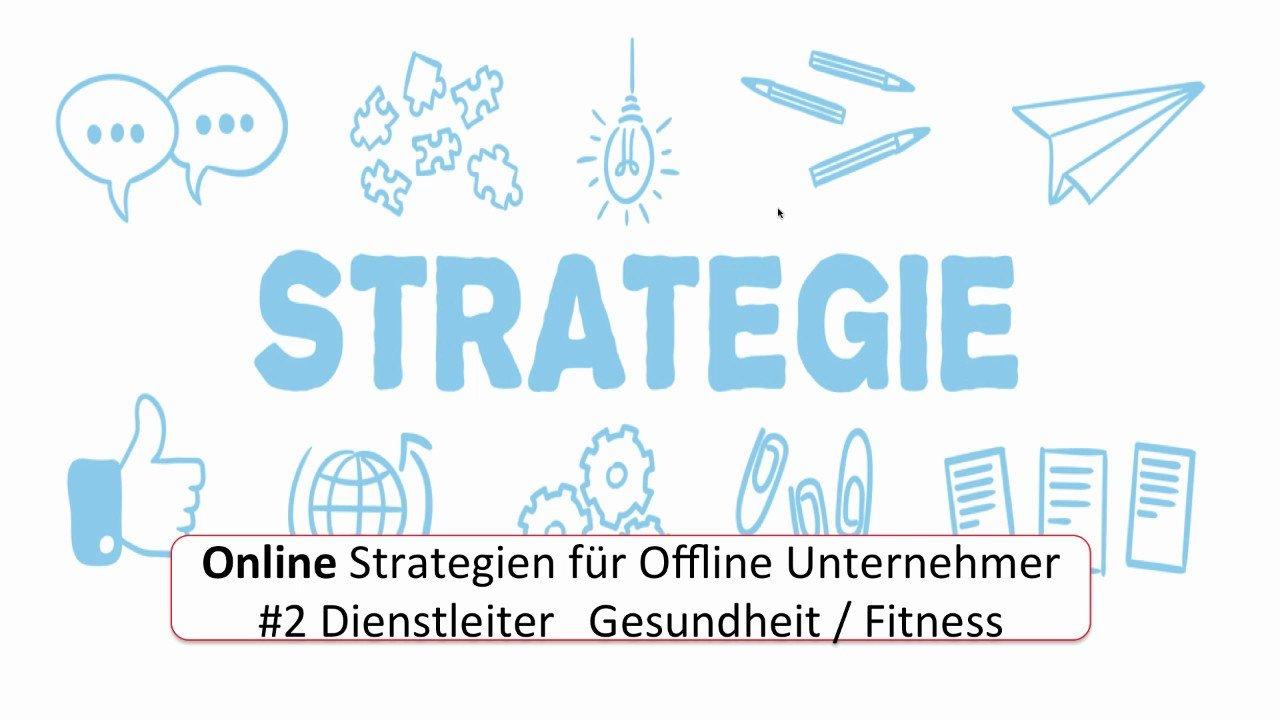 Online Marketing Strategie für Dienstleister Bereich Gesundheit
