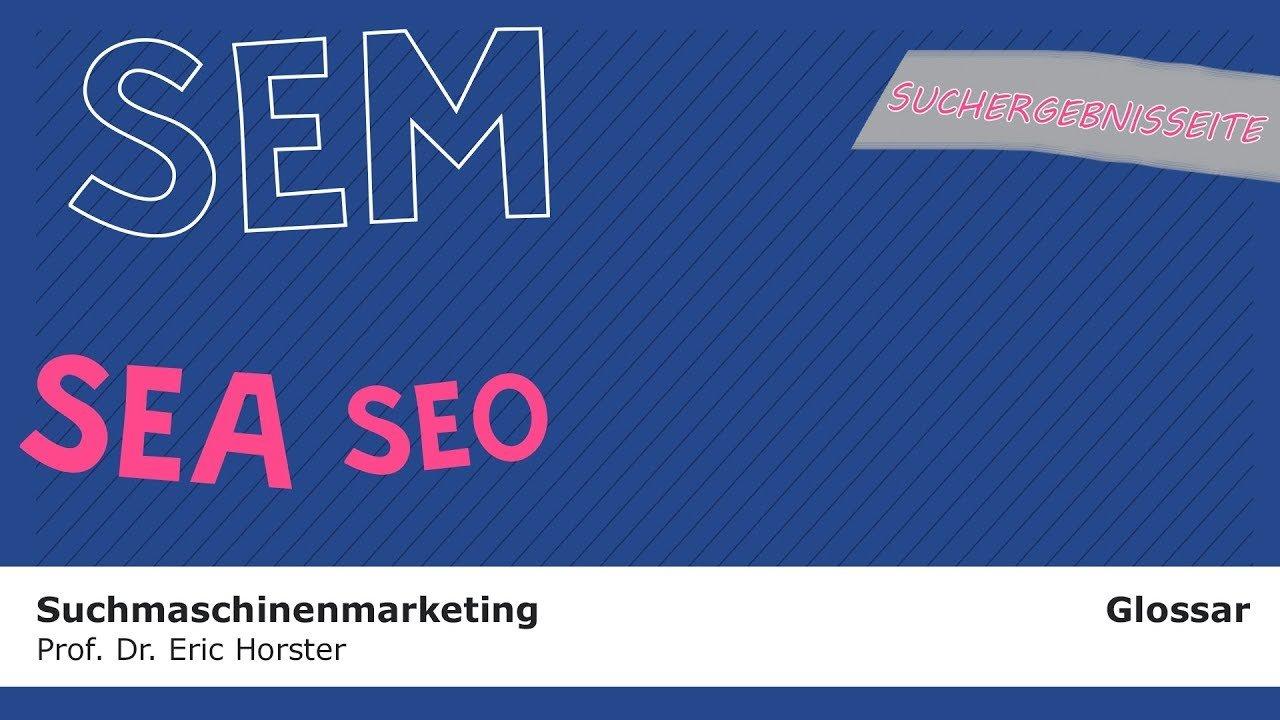 Suchmaschinenmarketing - #semmooc - GLOSSAR - Suchergebnisseite