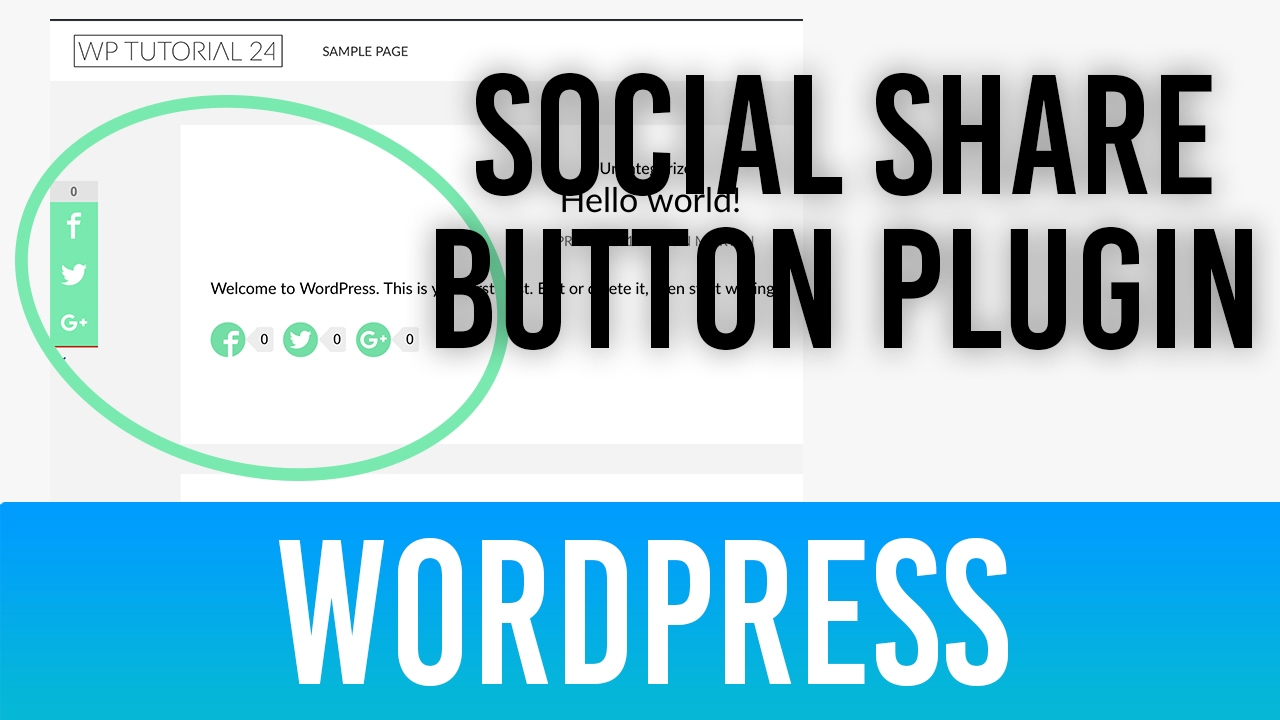 WordPress Social Share Button Plugin kostenlos - Tutorial Deutsch