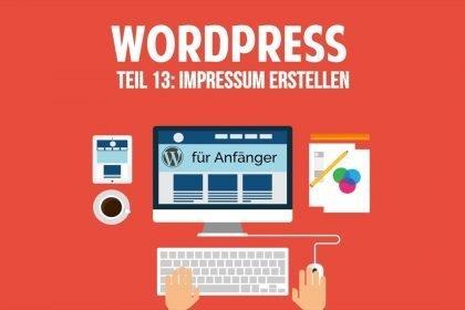 Wordpress und Blog für Anfänger - Impressum erstellen - [TUTORIAL]
