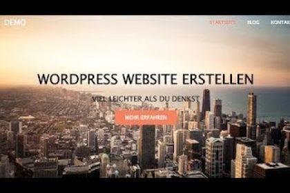 WordPress WEBSITE ERSTELLEN | WordPress Tutorial [German | Deutsch]