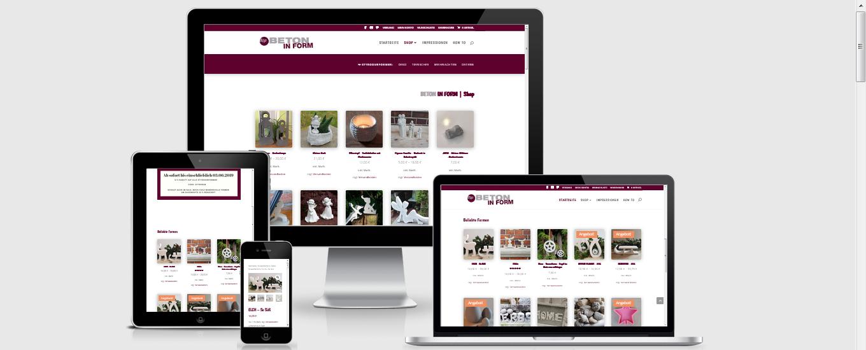 Betonart Shop - Aachen Webdesigner
