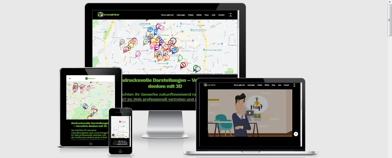 Deinestadt3d Aachen - WordPress Webdesign