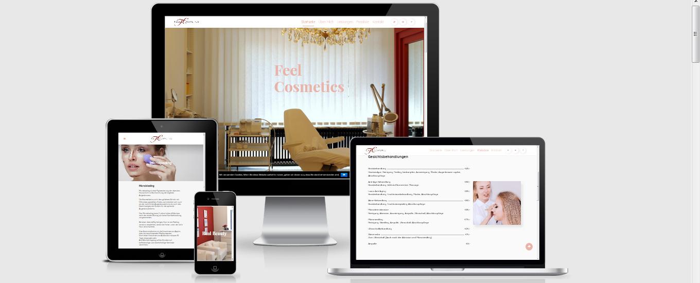 Feel Cosmetics - Webseite Köln