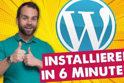 ▶︎ WordPress installieren 2020 [in nur 6 Minuten]