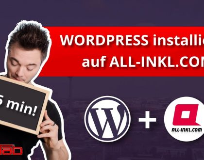 WordPress Installation bei all-inkl.com - in unter 5 min! (2021) + SSL Zertifikat installieren