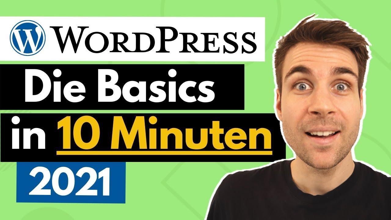 WordPress Website erstellen für Anfänger - Die Basics in 10 Minuten [2021]