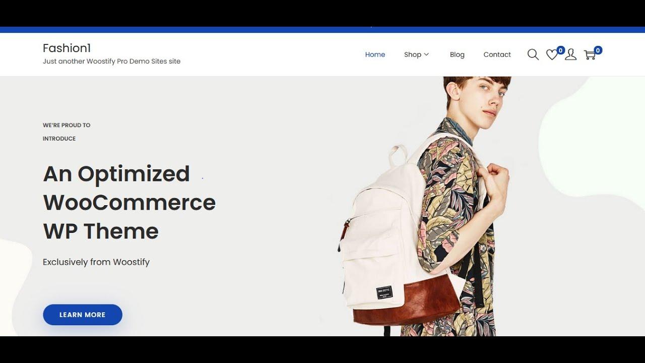 Best Free eCommerce theme for wordpress --- Woostify Theme WooCommerce 2021 | Wordpress W3School