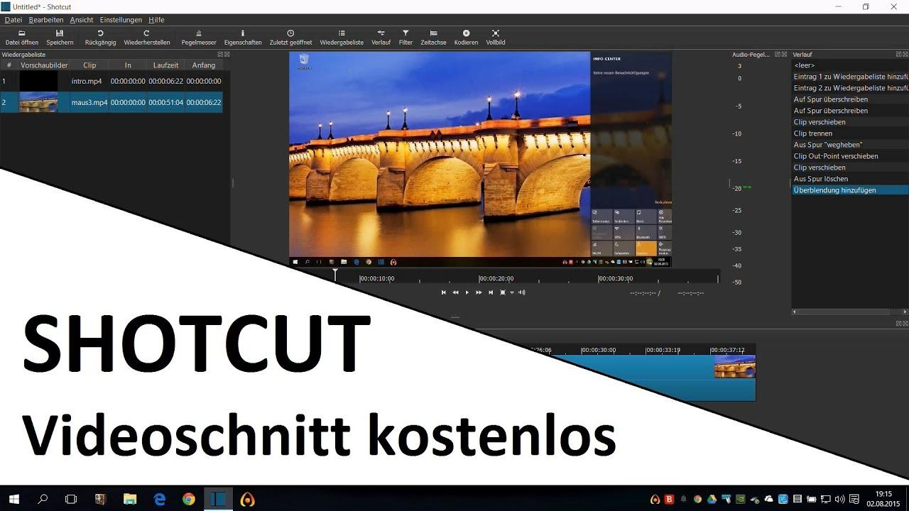 Videos kostenlos schneiden mit SHOTCUT   Programm Einführung deutsch