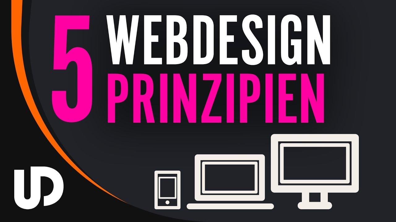 5 wichtige Webdesign Prinzipien die JEDER kennen sollte! [Tutorial]