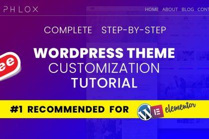 Complete Phlox Theme Tutorial 2020   The Best Free Wordpress Theme