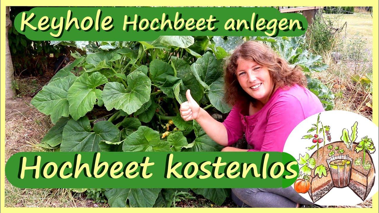Hochbeet kostenlos anlegen │ Keyhole Garden │ Viel Ernte auf kleiner Fläche