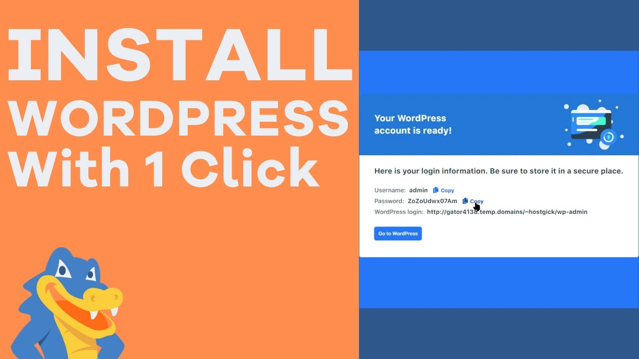 How to Easily Install WordPress With 1 Click - HostGator Tutorial