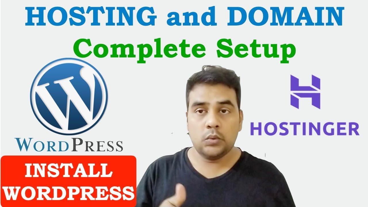 How to Setup Hosting and Domain Complete Tutorial | Install Wordpress in Hostinger Hosting h-panel