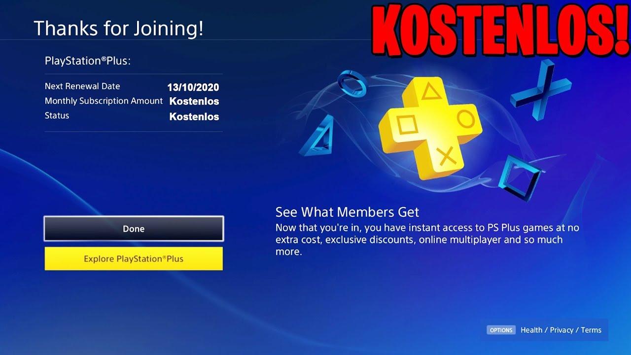 KOSTENLOS PLAYSTATION PLUS BEKOMMEN! (funktioniert) 2019!
