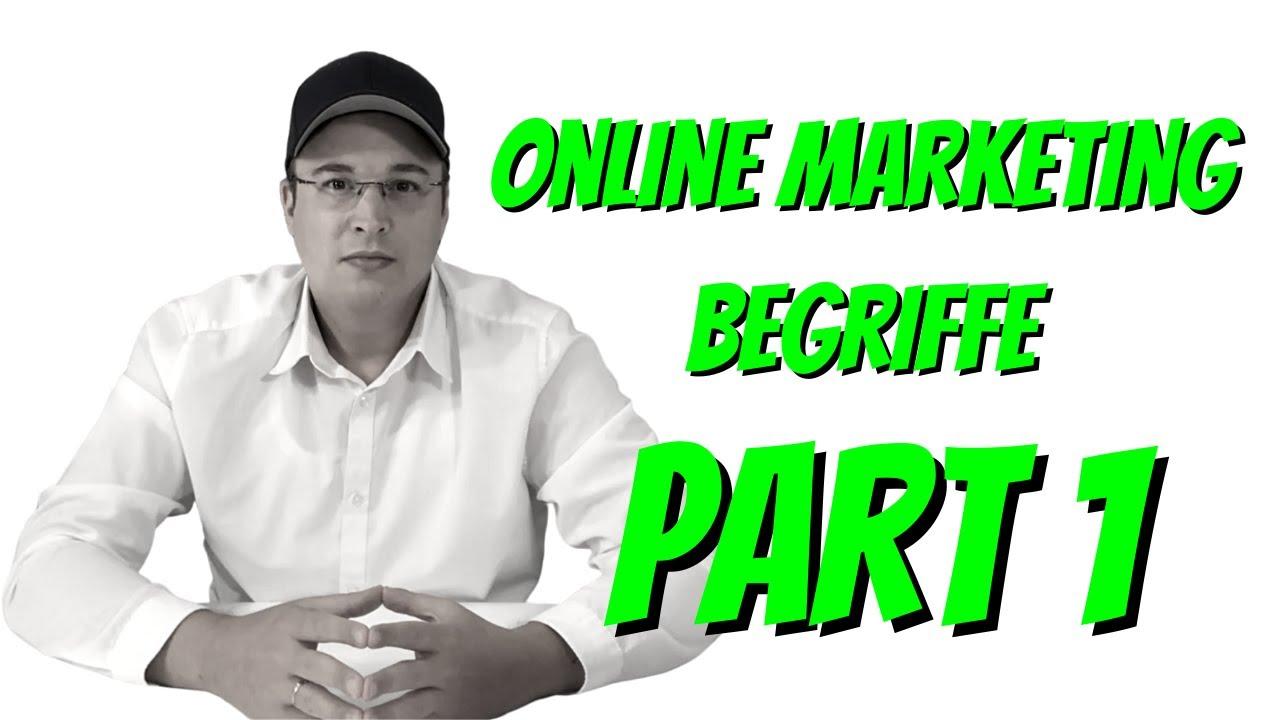Online Marketing Begriffe einfach erklärt - Teil 1