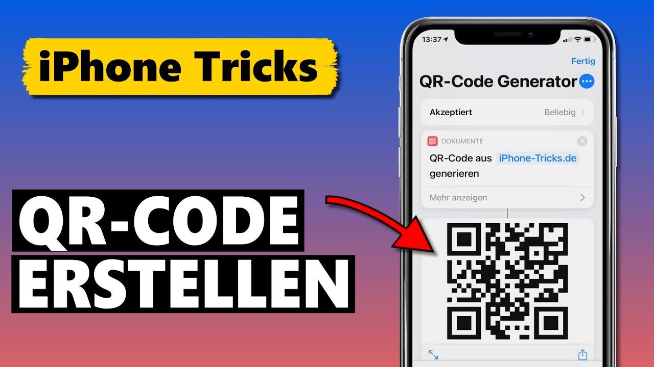 QR-Code erstellen kostenlos DIREKT am iPhone (OHNE Drittanbieter-App)