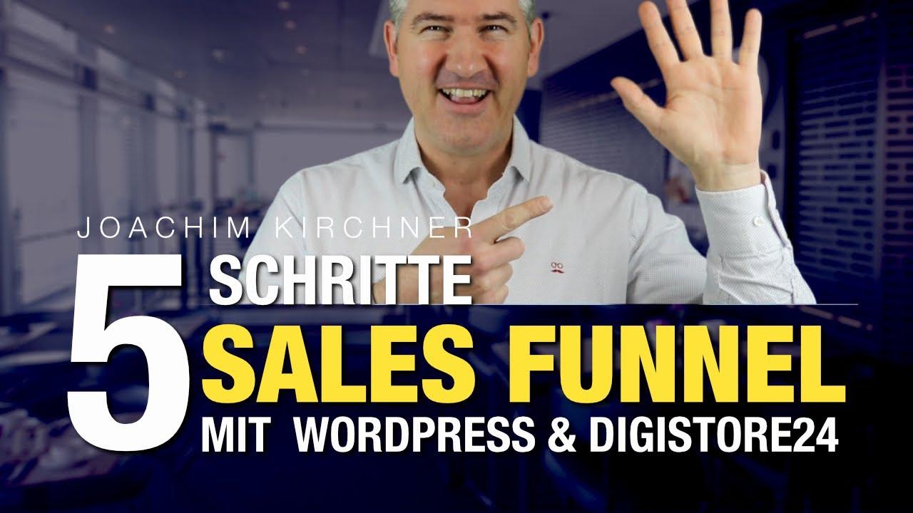 Sales Funnel erstellen mit WordPress & Digistore24 - Kostenlos in nur 5 Schritten!