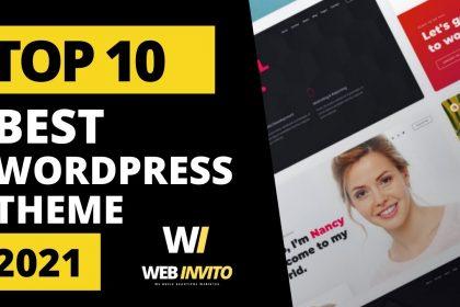 TOP 10 Best Premium WordPress Themes 2021 in themeforest | WebInvito