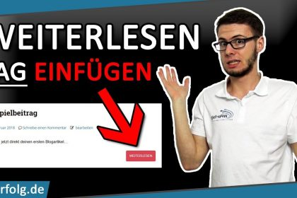 ❓TURBO-Tutorial: WordPress WEITERLESEN TAG einfügen + Weiterlesen TEXT ÄNDERN ❓ Deutsch 2021