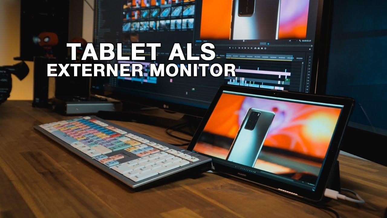 Tablet als zweiten Monitor nutzen WIN & MAC kostenlos I TUTORIAL I 4K