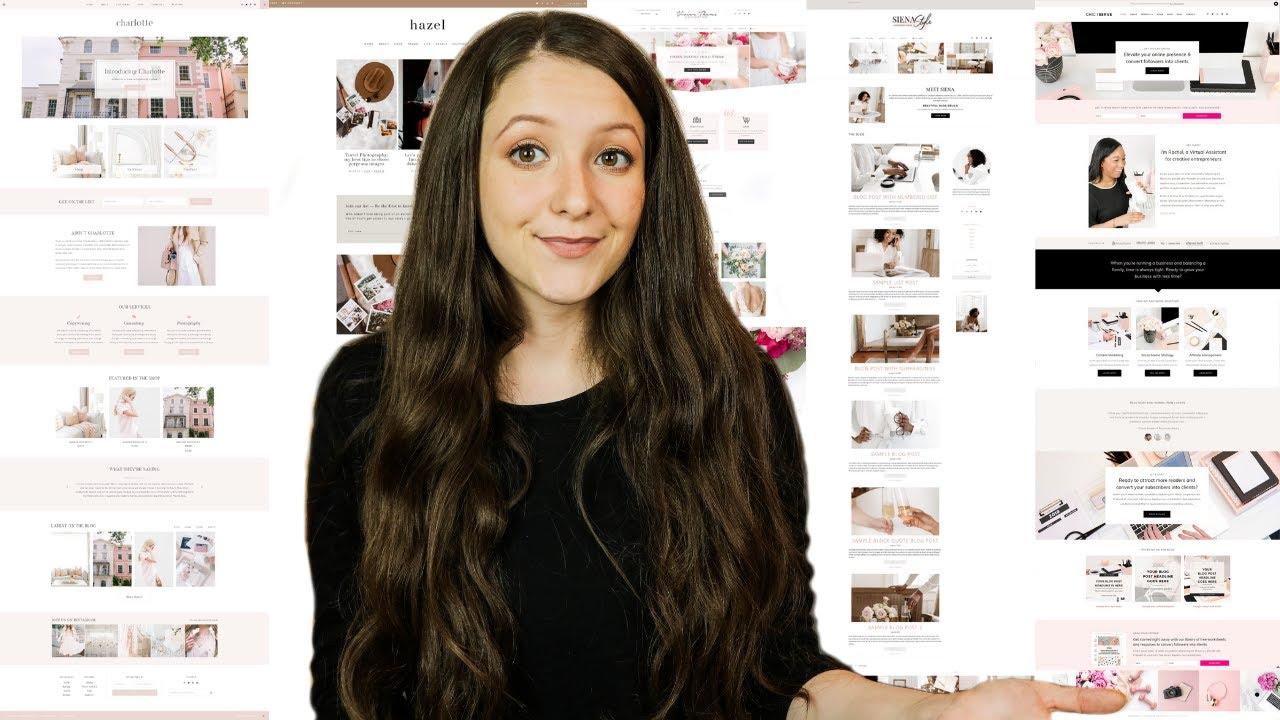 Top 5 WordPress Themes for Bloggers, Entrepreneurs & E-Commerce Shops! Minimal & Feminine Design