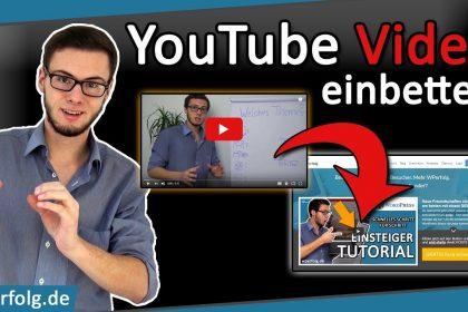 Wie Du In WordPress Ein YOUTUBE VIDEO EINBETTEN Kannst - Simples Tutorial 2021 (deutsch)
